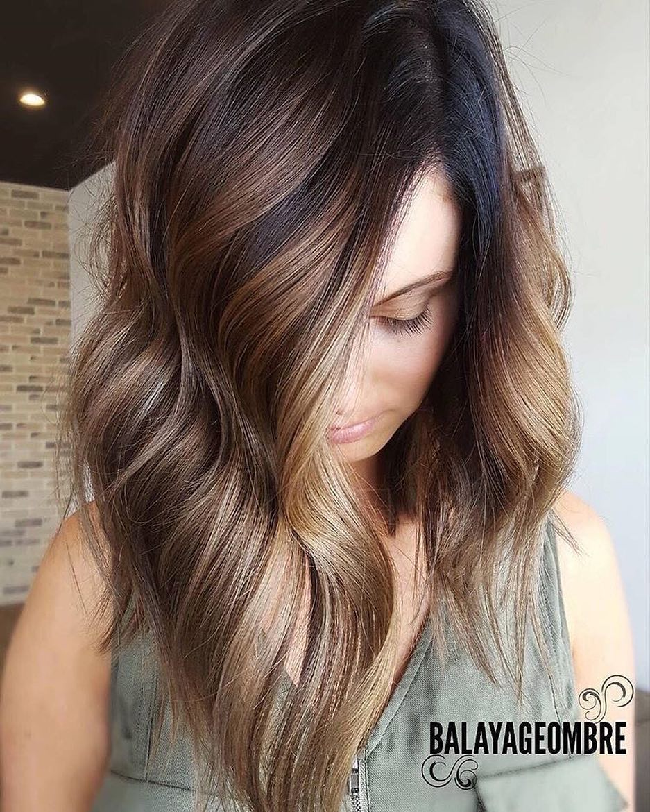 2018 Ombre Balayage Hairstyles For Chic Mid Length Hair ! 5