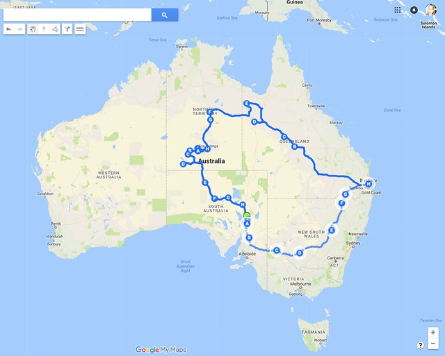 Map_outback trip