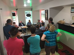 Rep. Stokes hosted a legislative update at Enfield Pizza