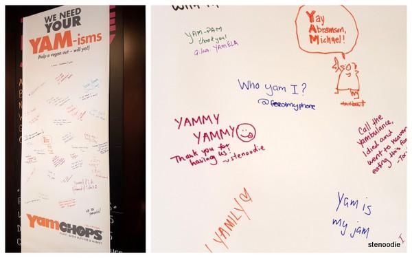 yam-isms board