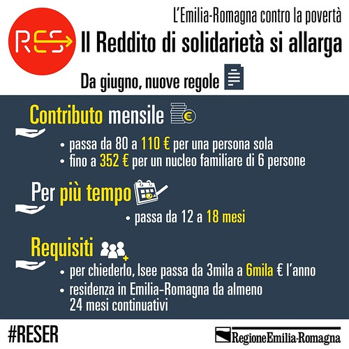 Reddito di solidarietà Emilia-Romagna: i numeri e le nuove regole
