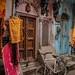 Colorful Varanasi Alley by shapeshift