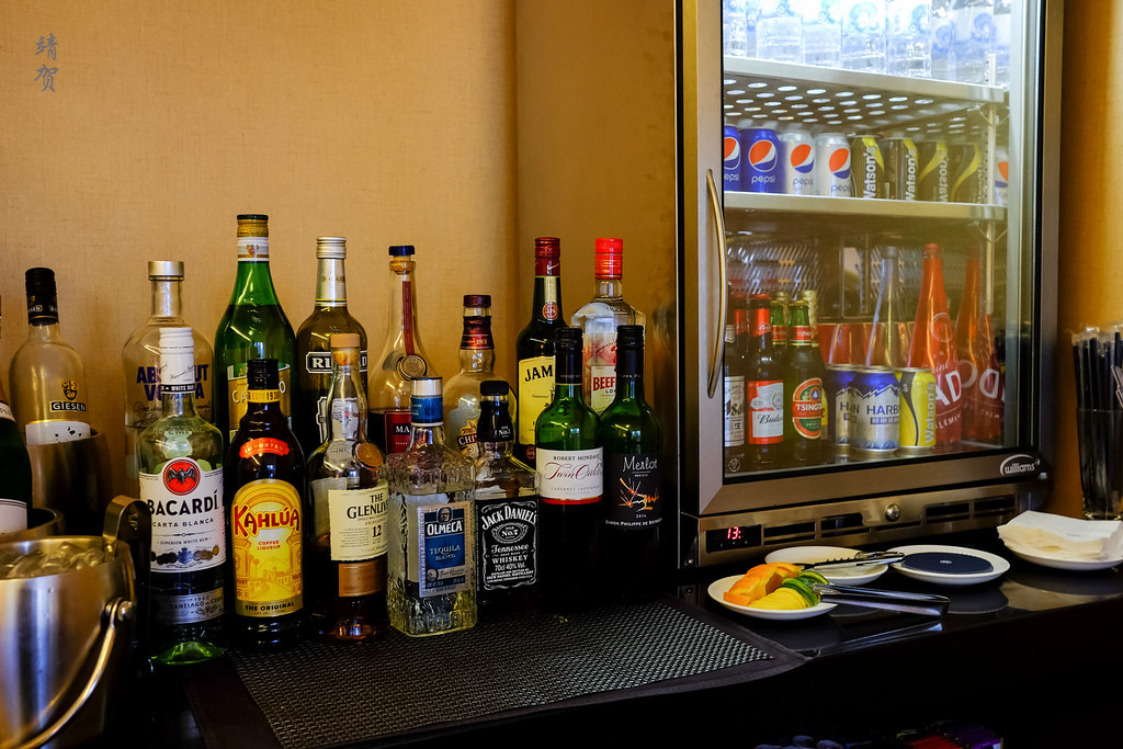 Bar and fridge