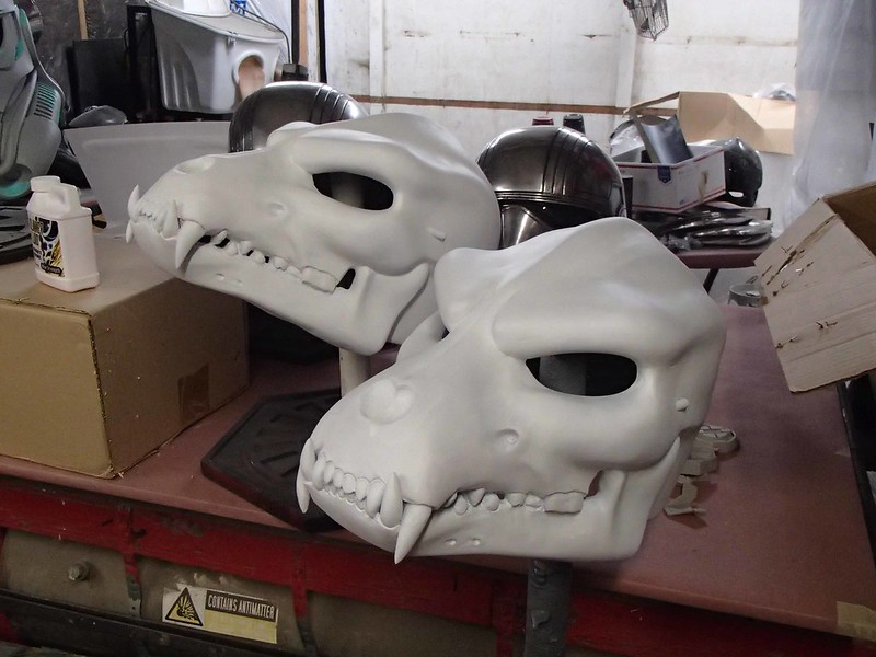 Wolf Helm Pair in Primer