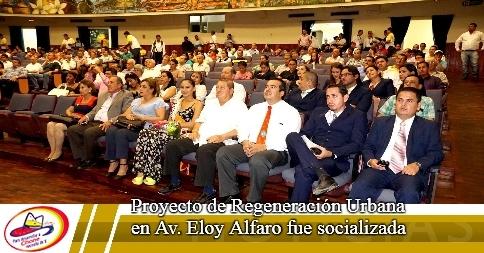 Proyecto de Regeneración Urbana en Av. Eloy Alfaro fue socializada