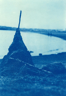 Cyanotype print made by a conventional contact printer