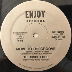THE DISCO FOUR:MOVE TO THE GROOVE(LABEL SIDE-A)
