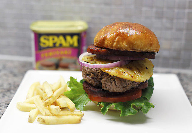 SPAM burger by Pam