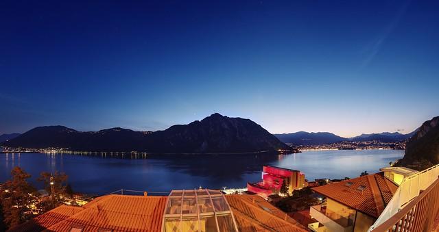 Blue hour over Lago di Lugano