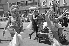 Waving Mermaids Coney Island Mermaid Parade