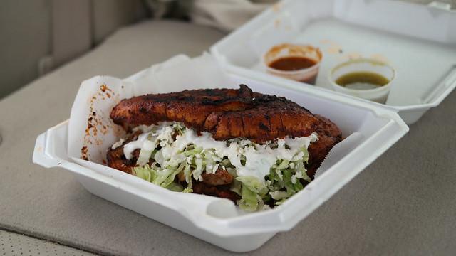 Pambazo from El Buen Mexicano Taco Truck in Clive, Iowa