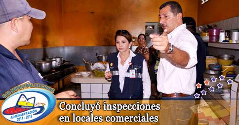Concluyó inspecciones en locales comerciales