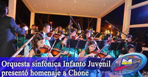 Orquesta sinfónica Infanto Juvenil presentó homenaje a Chone