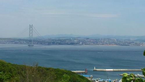 淡路SA(上り)から神戸市を望む
