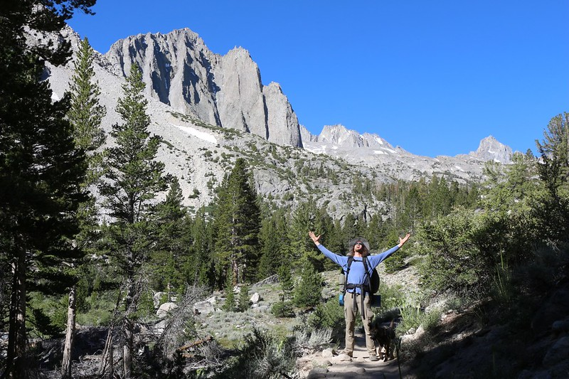 We get our first view of Temple Crag as we hike up the North Fork Big Pine Creek Trail