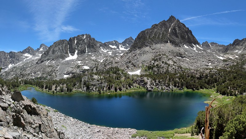Mount Robinson and Two Eagle Peak above Sixth Lake