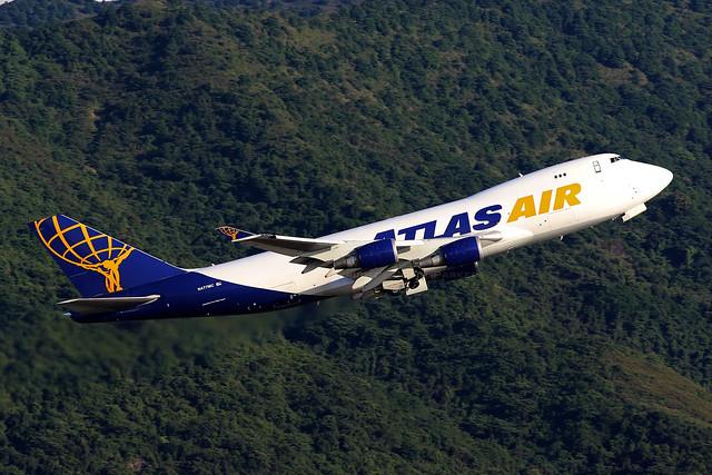 N477MC, 747-400F, Atlas Air, Hong Kong