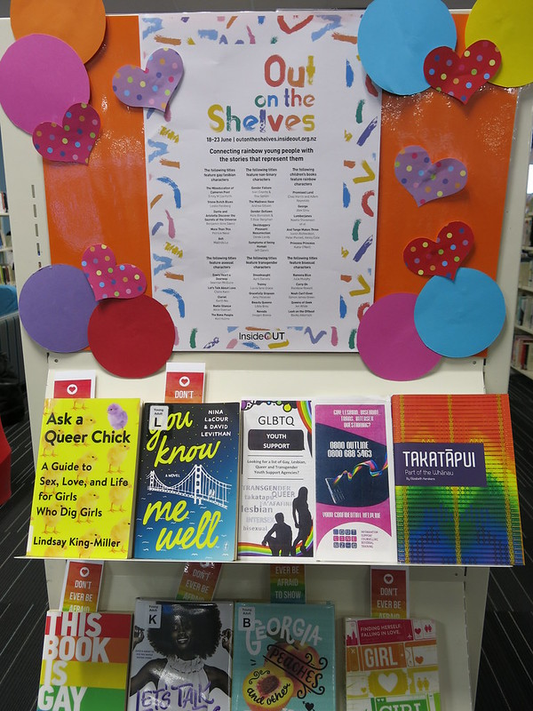 Out on the shelves display
