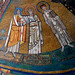 "Mosaics with ""Pope Gregory IV with church, Marcus the Evangelist and Felicissimus"" (827-844) - San Marco Church in Rome"