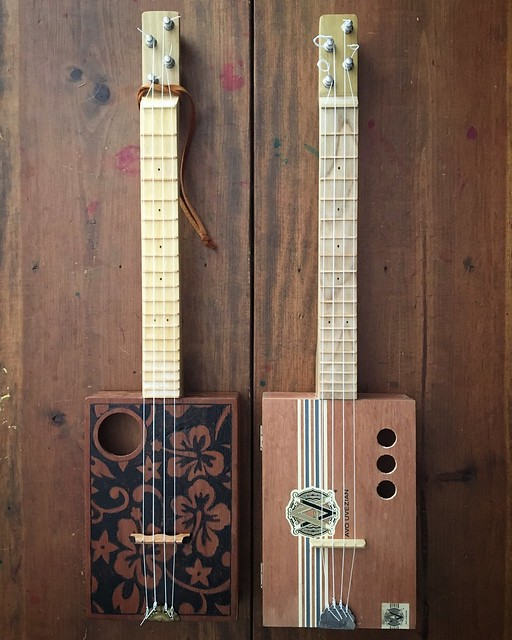 Cigar box ukulele number two is completed.