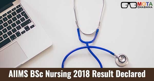 aiims bsc nursing merit list and cut off