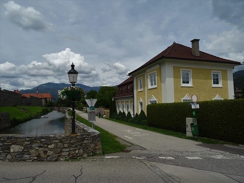 Friesach, Carinthia, state of Austria (the art of public places of Friesach), Bahnhofstraße