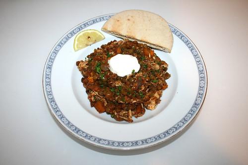 48 - Ethiopian chicken lentil stew - Served / Äthiopischer Hähnchen-Linsen-Eintopf - Serviert