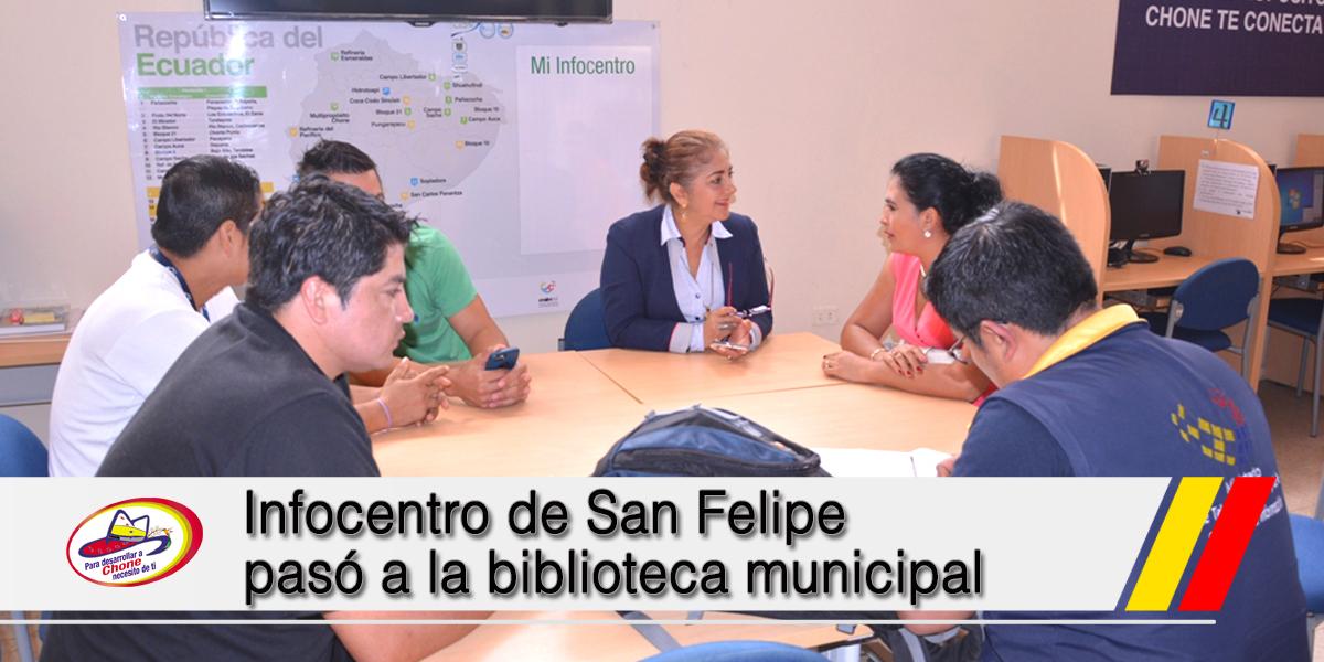 Infocentro de San Felipe pasó a la biblioteca municipal