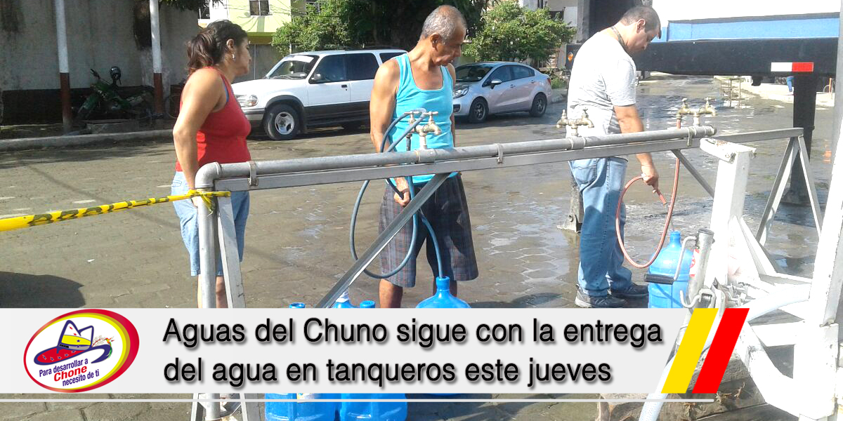 Aguas del Chuno sigue con la entrega del agua en tanqueros este jueves