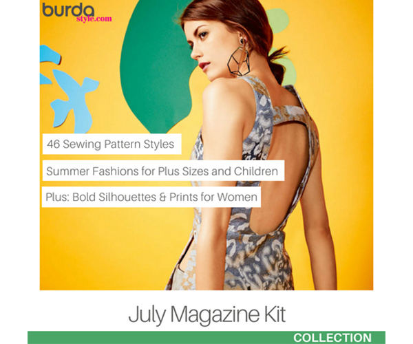 600 Burda July 2015 Magazine Kit MAIN