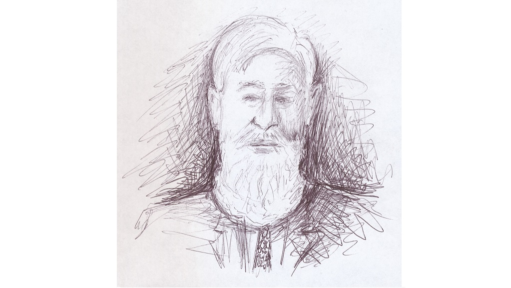 Sketch of Lord Hylton made during a trip to Chechnya, 2007 (Hylton K/83)