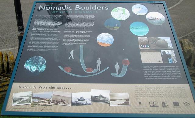 Nomadic Boulders Information Board, John  O' Groats