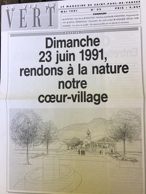 St Paul de Varces magazine municipal referendum juin 1991