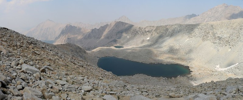 Looking back down the Bubbs Creek drainage as I near Forester Pass on the John Muir Trail