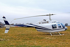 G-BKZI Bell 206B Jet Ranger II [118] Cheltenham Racecourse~G 18/03/201