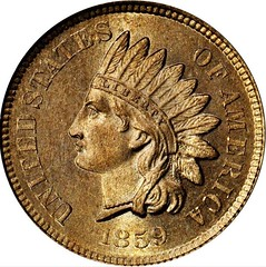 1859 Indian Cent Obverse