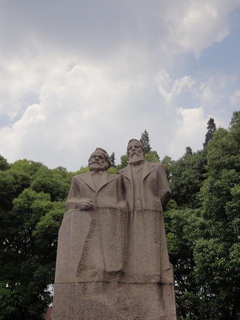 2013-06-Shanghai-FuxingPark-KarlMarxFriedrichEngels-01