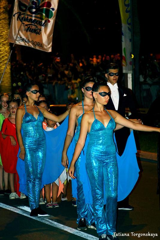 Выступление танцоров на Которском летнем карнавале