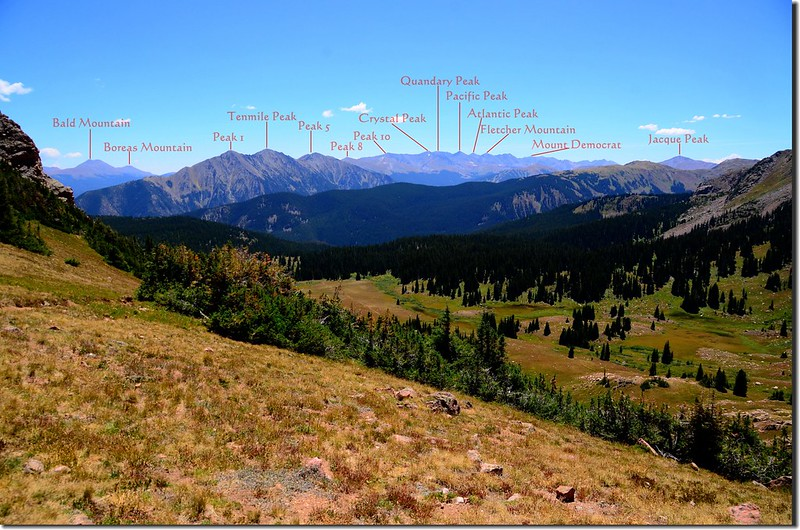Looking south at Tenmile Range from Eccles Pass (2)