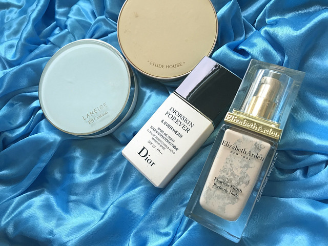 Empties foundation cushion primer Chanel Laneige Elizabeth Arden