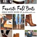 Fall Fashion Outfits for Fall : I really need some cute ankle boots! Here's a roundup of my favorites. Fall ...