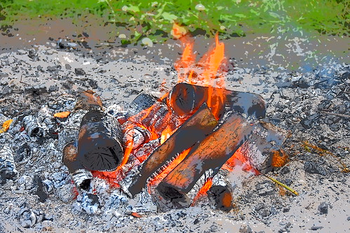 Campfire (met foto effekt)