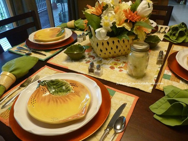 Colors of August Tablescape at From My Carolina Home