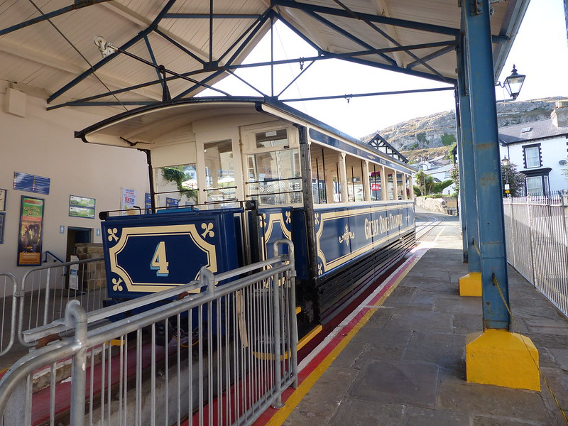 This is a picture of the great orme tram