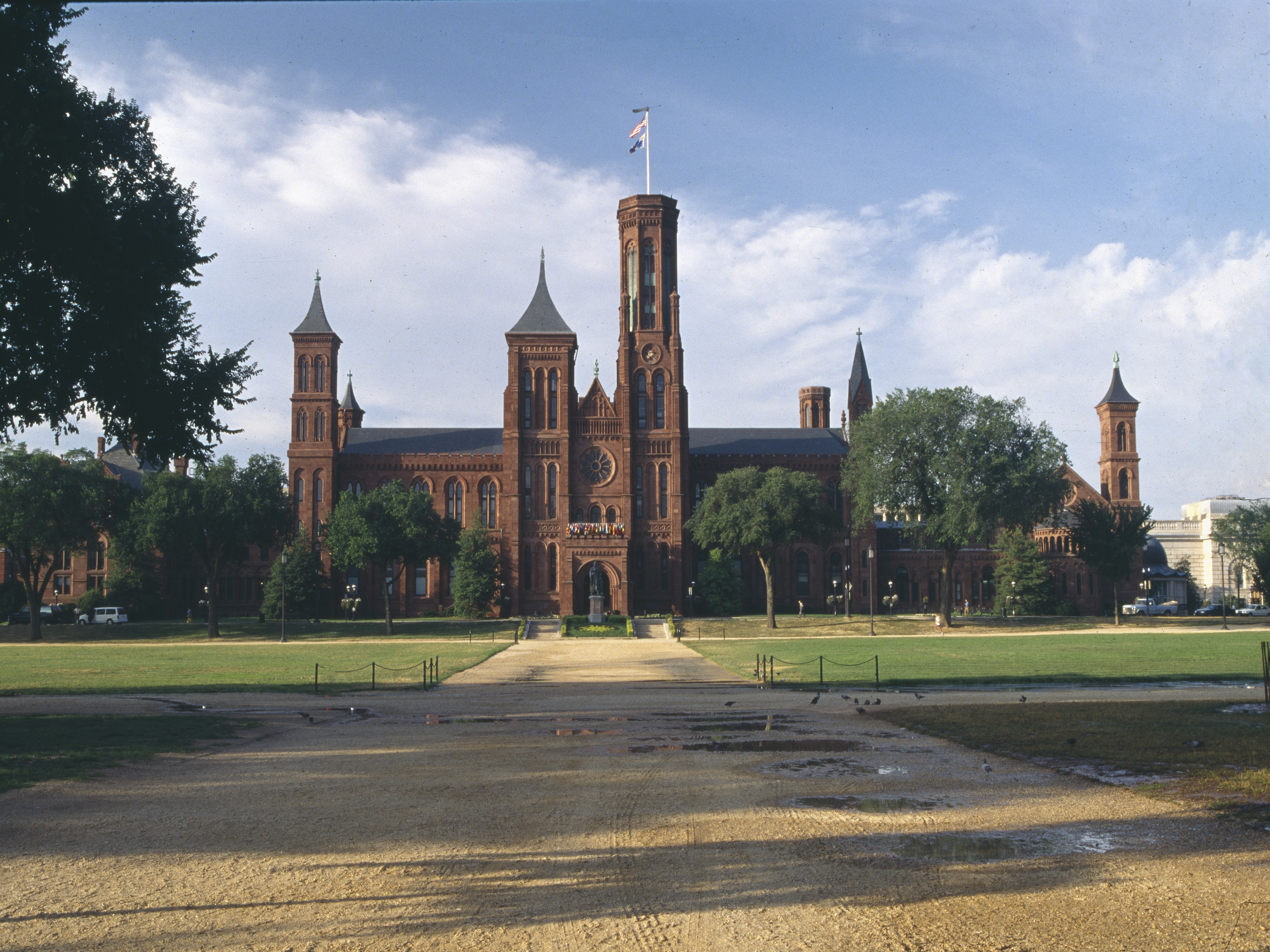 The original Smithsonian Institution building, nicknamed
