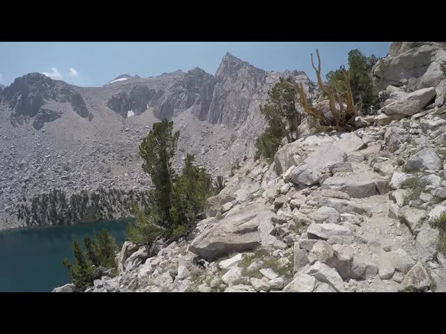 0132 GoPro panorama video of Heart Lake on the Kearsarge Pass Trail