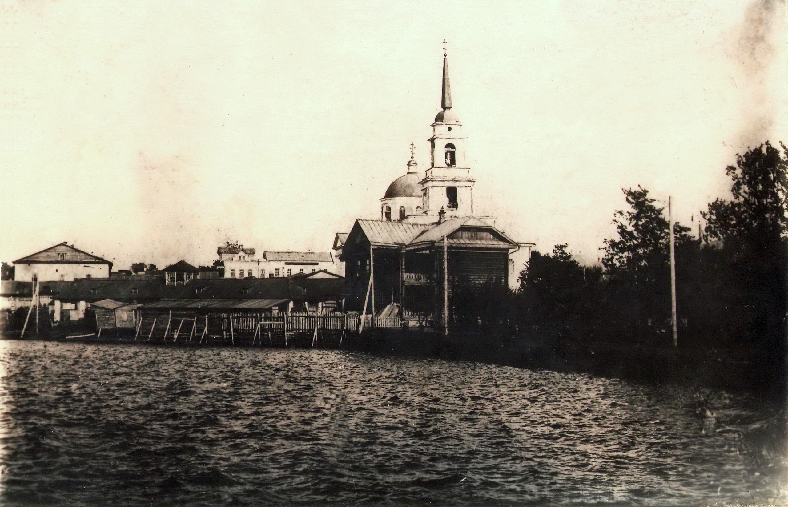Вид на плотину, базар и Благовещенский собор