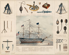 A lithograph illustration of a ship and interiors by Peter Duval. Original from Library of Congress. Digitally enhanced by rawpixel.