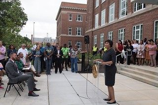 August 20, 2018 Mayor Bowser cuts Ribbon on MacFarland Middle School