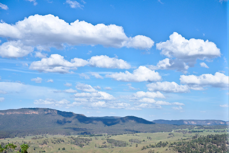 Clouds over Blue Mountains escarpment